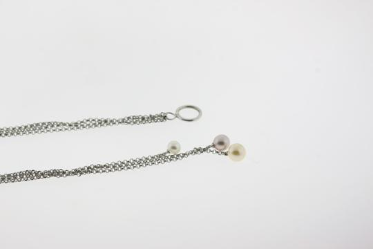 Other Triplet Pearl Drop Necklace in Sterling Silver