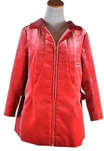 Louis Vuitton Red/coral Velvet Coat Size 38 Coral/Red Jacket