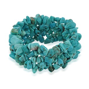 Beautiful Chunky Turquoise Stretch Bracelet