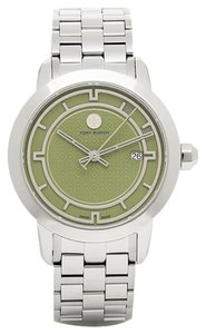 Tory Burch NWT TORY BURCH Olive Green Dial Silver-Tone Watch TRB1007 ($495+TAX)