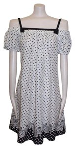 Double Zero short dress POLKA DOT Off The Shoulder Printed on Tradesy
