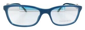 Tiffany & Co. New TF 2104 8182 Blue Black Acetate Silver Eyeglasses 53mm Italy