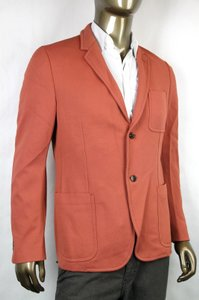 Gucci Pink Orange New Men's Two Button Jacket It 50 / Us 40 342325 7664 Groomsman Gift