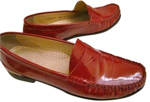 Cole Haan Loafers Red Patent Leather Flats
