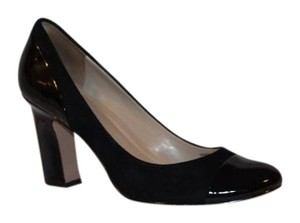 Ellen Tracy Party Suede Patent Leather Formal Holiday Black Pumps