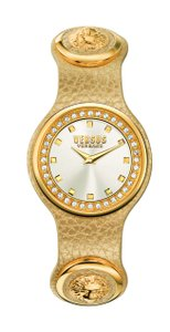 Versace Versus By Versace Women's CRYSTAL Watch SCG170016 Gold Leather