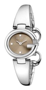 """Gucci Gucci Ladies """"Guccissima"""" Stainless Steel Bangle Watch"""