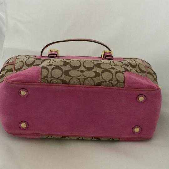 Coach Satchel in Khaki and Pink