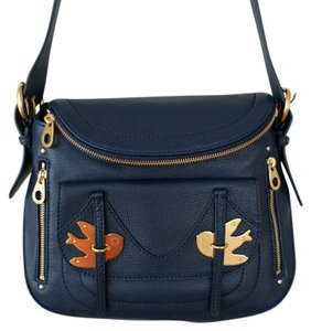 Marc by Marc Jacobs Leather Bird Metal Shoulder Bag