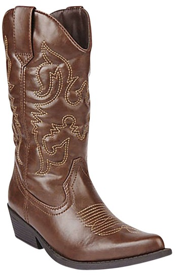 Madden Girl Country Western Cowgirl Cowboy Rustic Brown, Cognac Boots