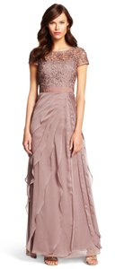 Adrianna Papell Chiffon Mother Of The Bride Mother Of The Groom Gown Illusion Dress