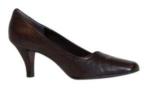 Aerosoles Leather Comfortable Classic Brown Pumps