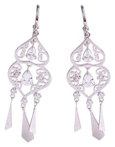 Other Jewelry Drop Cz Silver Rhodium Chandelier Earrings - item med img