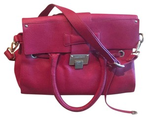 Jimmy Choo Satchel in Red w/gold hardware