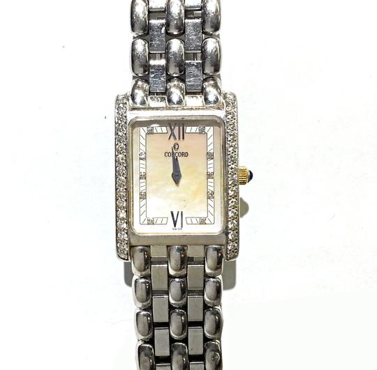 Concord CONCORD Veneto Ladies 18K White Gold Watch With Factory Diamonds And Mother Of Pearl Dial. Weighs 66.1 Grams Including The Movement. Image 2