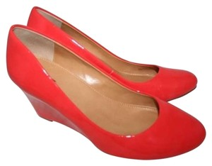 J.Crew Patent Patent Leather Salmon, Tangerine, Coral, VIBRANT FLAME Wedges
