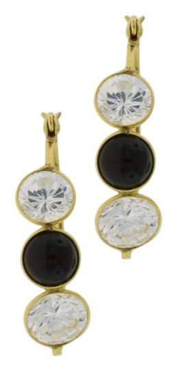 Preload https://img-static.tradesy.com/item/20097733/three-stone-crystal-and-onyx-hooped-14k-gold-earrings-0-1-540-540.jpg