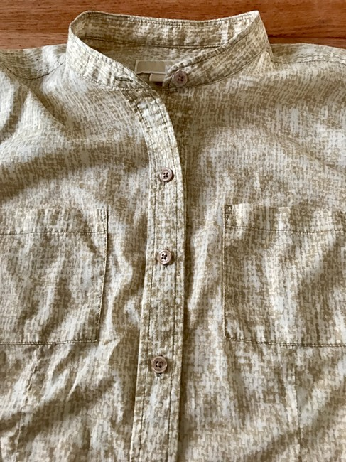 MICHAEL Michael Kors Longsleeve Button Up Size 12 Tan Button Down Shirt Brown