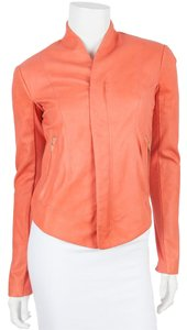 VEDA Coral Leather Jacket