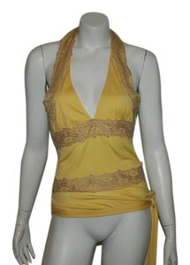 RED Valentino yellow Halter Top