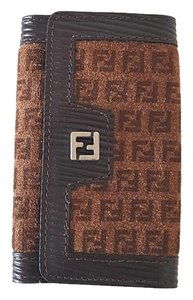 Fendi Fendi Monogram Suede Leather Key Holder