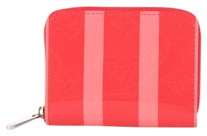 Louis Vuitton Poppy Striped Vernis Zippy Wallet
