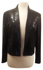H&M Sequined Sequined Jacket Holiday Sequined Black Blazer
