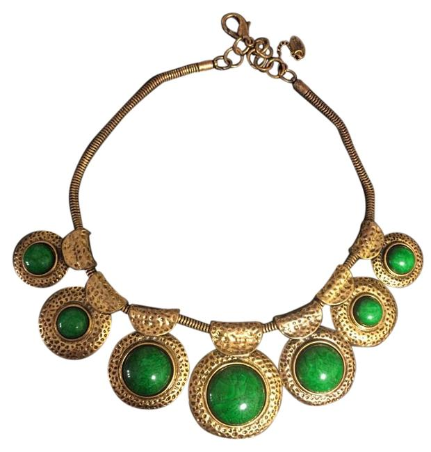 Item - Green Ronnie Brass Necklace