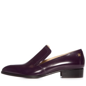 Chanel Dark Purple Flats