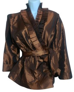 Alex Marie Button Down Shirt Bronze