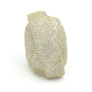 Yellow Gold Plated .925 Sterling Silver Cubic Zirconia Cocktail Ring