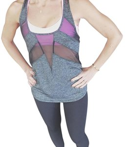 Lululemon EUC Lululemon Lucky Tank Black Gray Size 4 Top Sleeveless