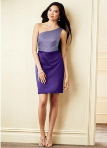 Alfred Angelo Victorian Lilac Satin 7274s Formal Bridesmaid/Mob Dress Size 12 (L)