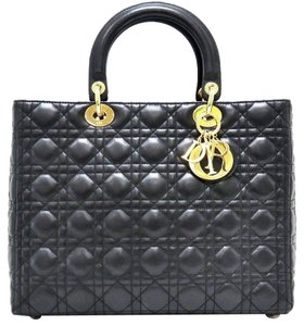 Dior Lady Large Tote in Black