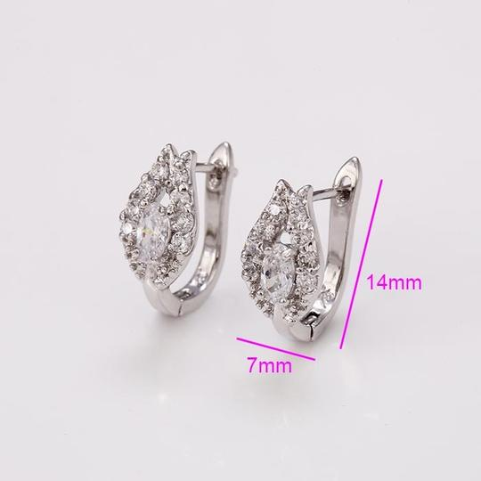 Other Gorgeous Petal Silver Rhodium CZ Stone Earrings Image 1