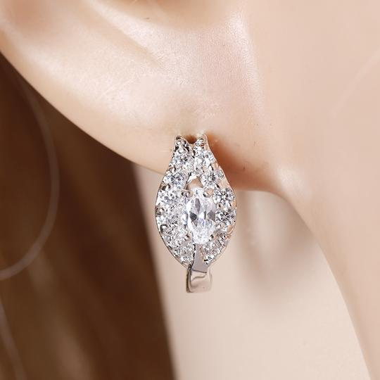 Other Gorgeous Petal Silver Rhodium CZ Stone Earrings Image 2