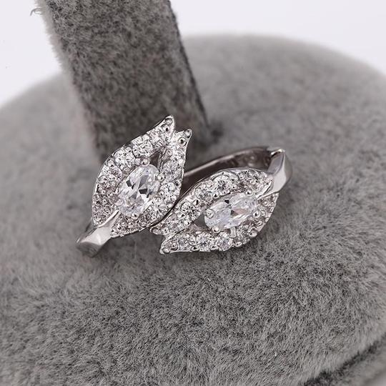 Other Gorgeous Petal Silver Rhodium CZ Stone Earrings Image 3