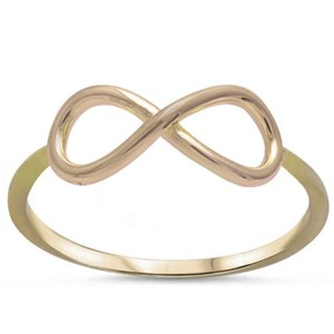 9.2.5 Stunning 18kt dipped infinity knot ring size 6