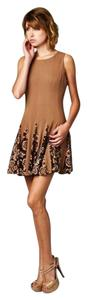 ZEMA short dress Camel on Tradesy