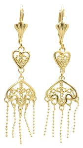 Gold Filled Beaded Tiered Stunning Chandelier Earrings