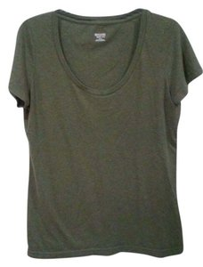 Mossimo Supply Co. Round Neck T Shirt Army Green
