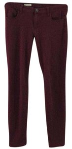 KUT from the Kloth Skinny Pants Burgundy