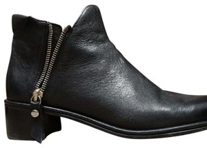 Stuart Weitzman Ankle Leather Black Boots