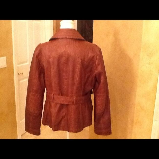 Guess Brown Leather Jacket Image 1