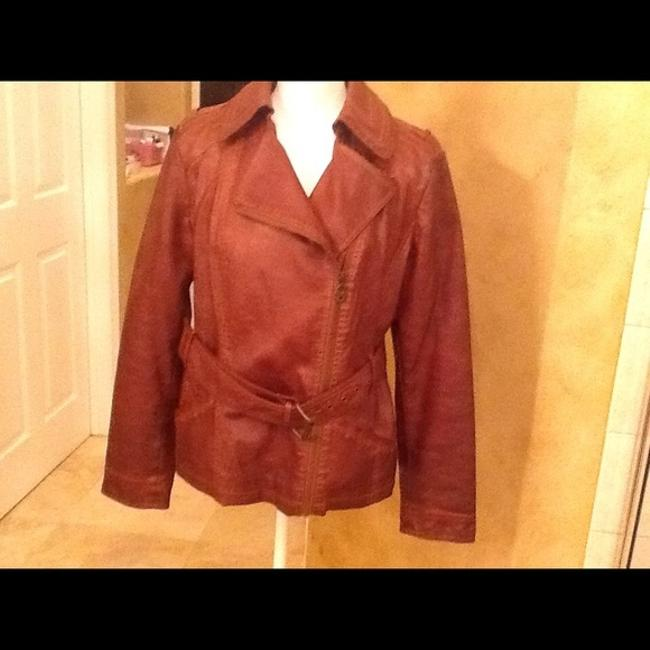 Guess Brown Leather Jacket Image 3