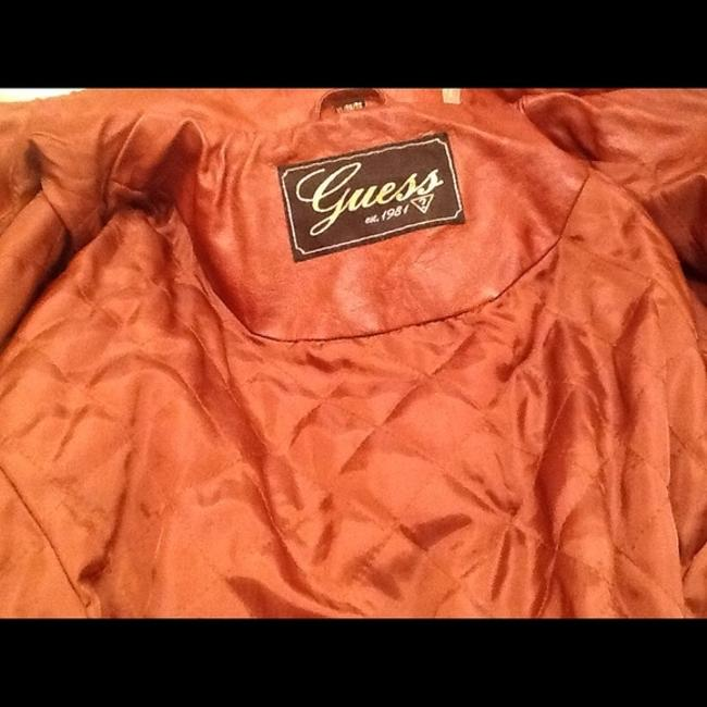 Guess Brown Leather Jacket Image 4