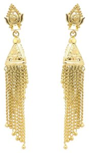 Other Antique Victorian Fringe Chain Gold Filled Beautiful Earrings