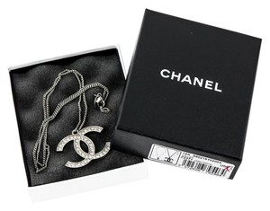 Chanel * Collier Argent/Cristal Necklace