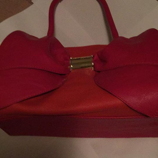 Betsey Johnson Satchel in Orange & Pink