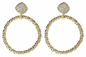 Amrita Singh Amrita Singh Gold Tone Crystal Lismore Statement Earrings Erc 4024